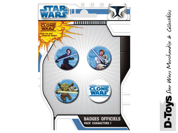The Clone Wars Button Set
