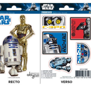 R2-D2 & C3PO Mini Sticker